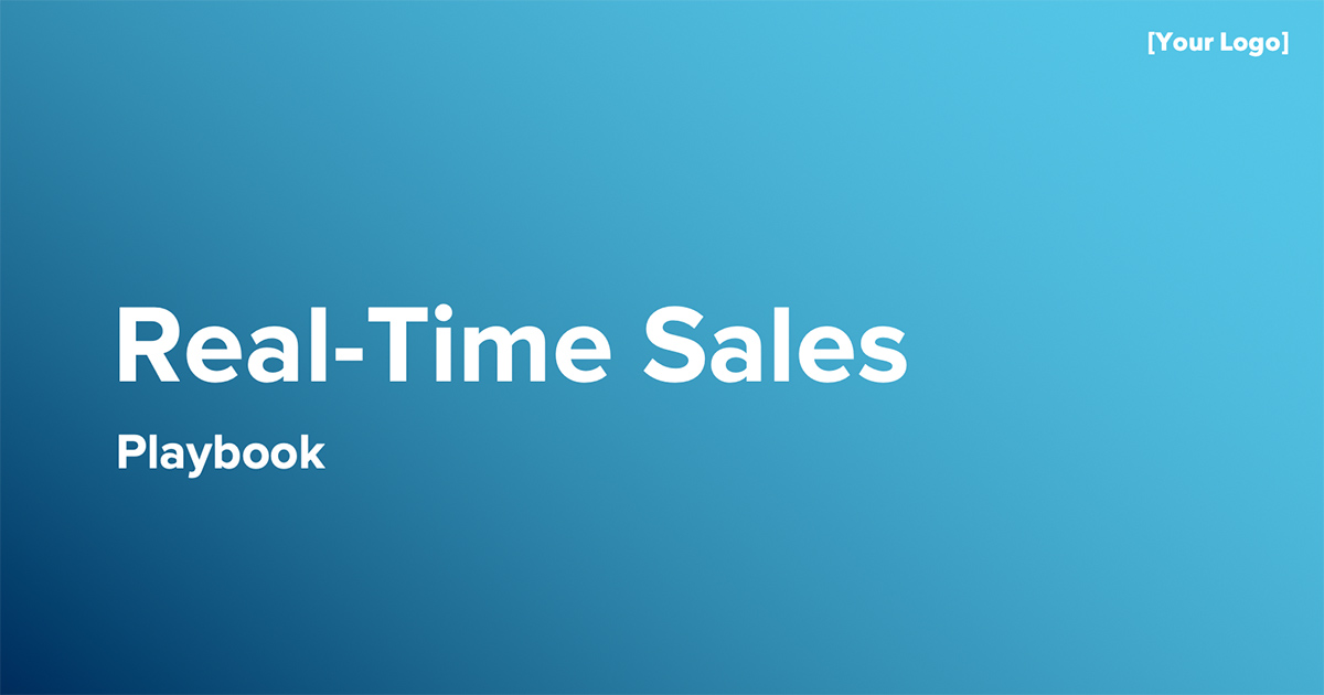 Real-Time Sales Playbook Template